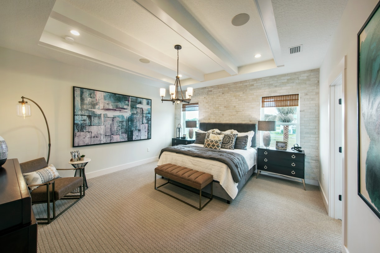 Luxurious primary bedrooms