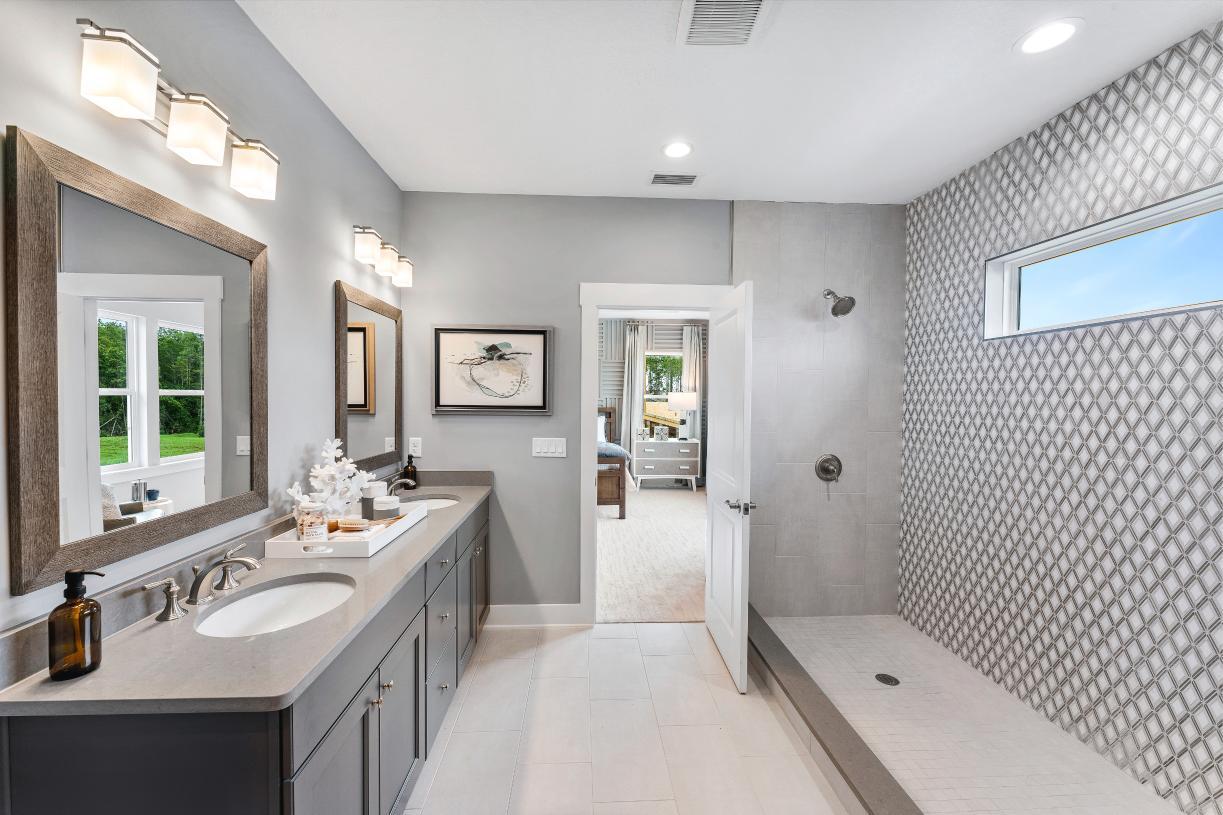 Primary suite bathroom