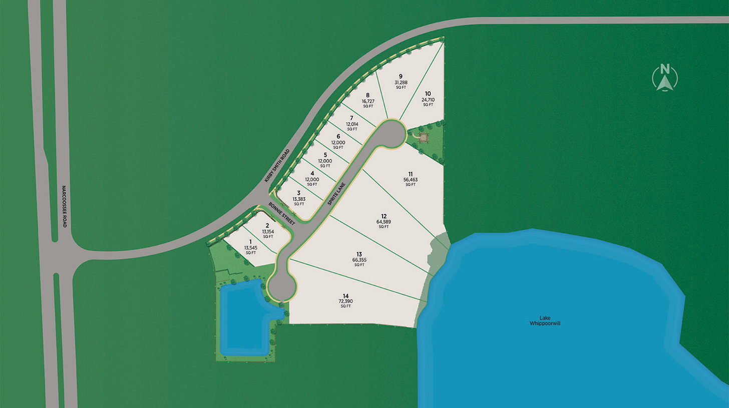 Shores at Lake Whippoorwill - Estates Collection Site Plan