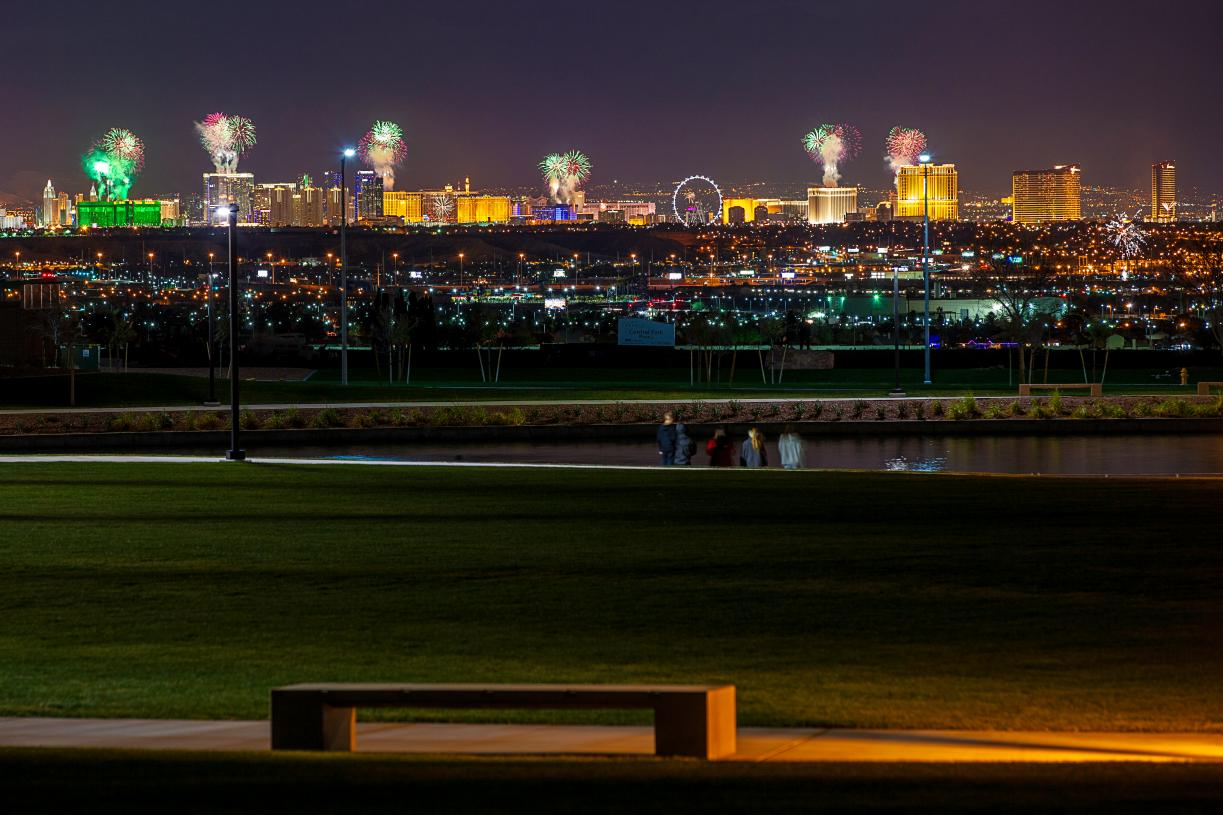 Stunning Las Vegas views can be seen from Cadence's Central Park