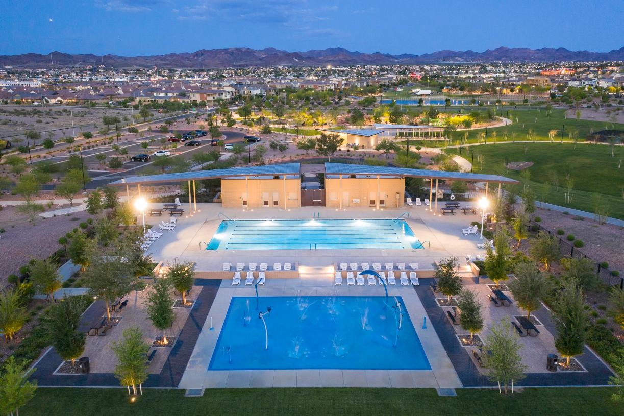Relax poolside at the Cadence community pool