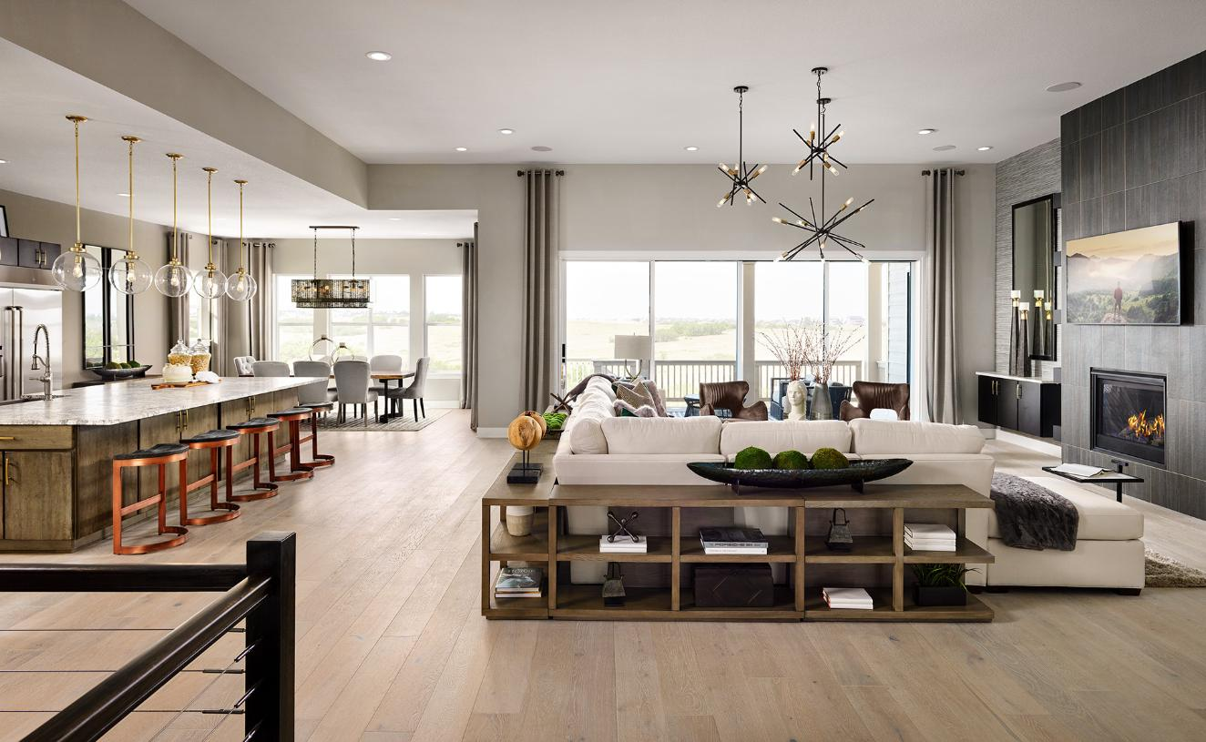 Welcoming Montview great room, kitchen, and dining