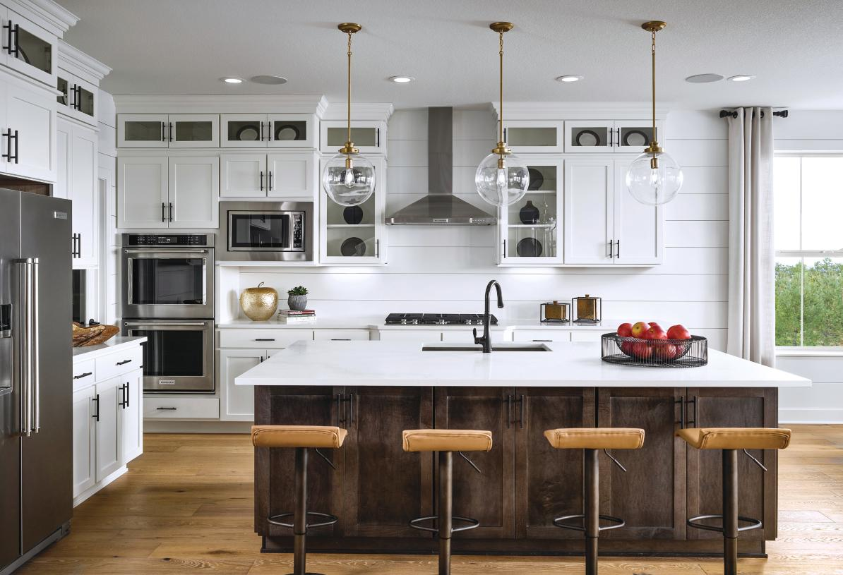 Yale kitchen with double ovens