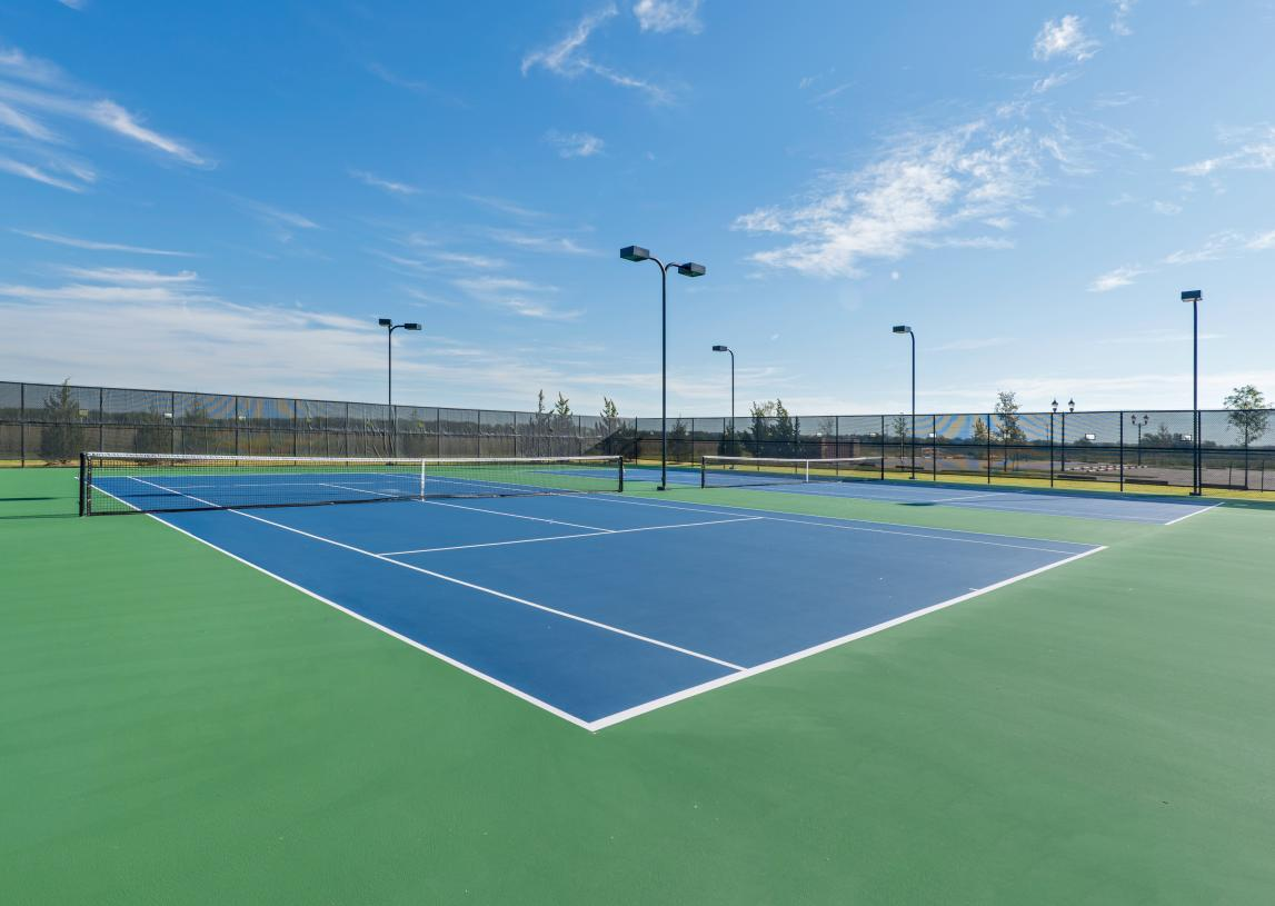 Practice your swing at the tennis courts