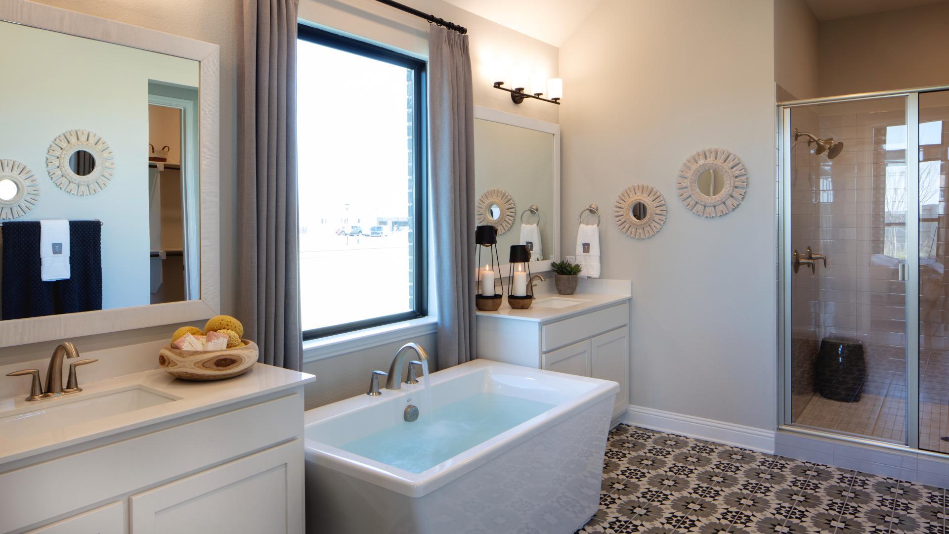 Elegant modern touches throughout the home