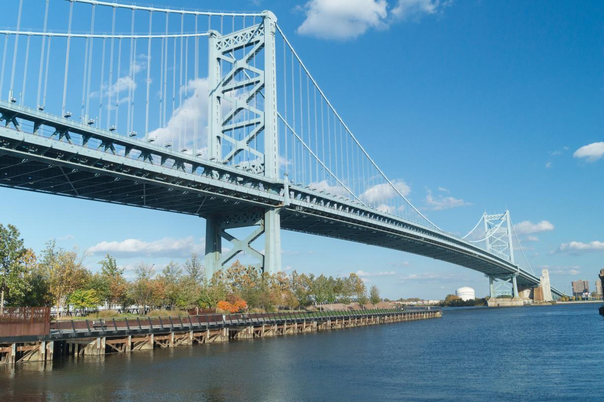Picturesque views of the Philadelphia waterfront