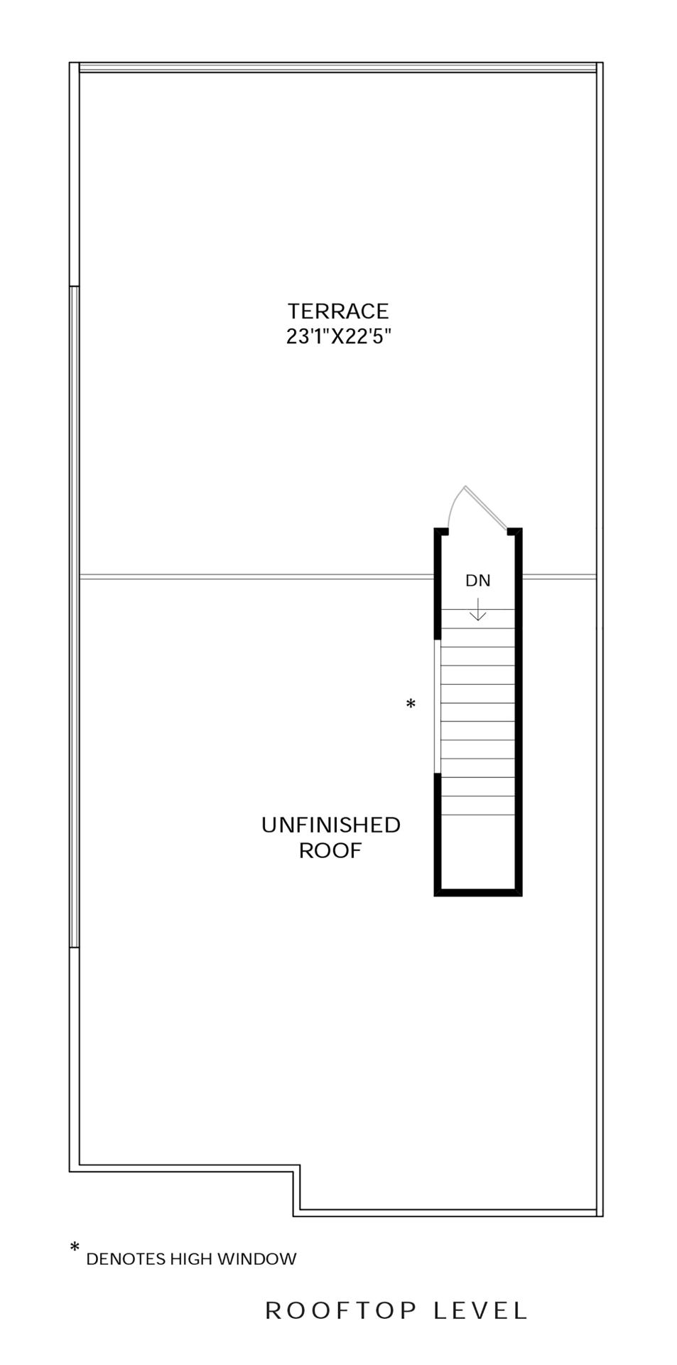 Rooftop Level Floor Plan