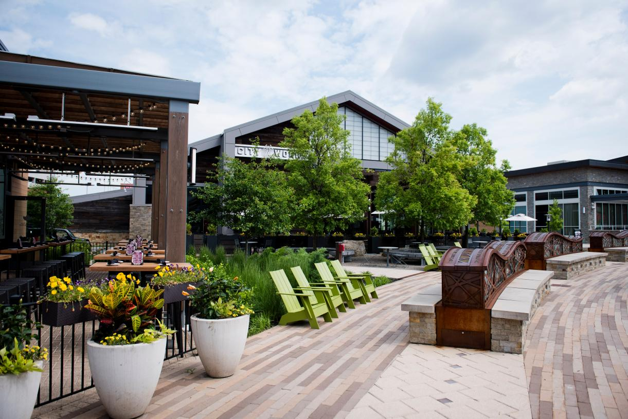 Numerous shopping and dining options at the King of Prussia Town Center