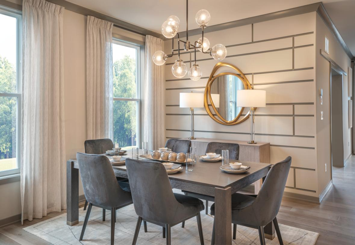 Casual dining area located off kitchen