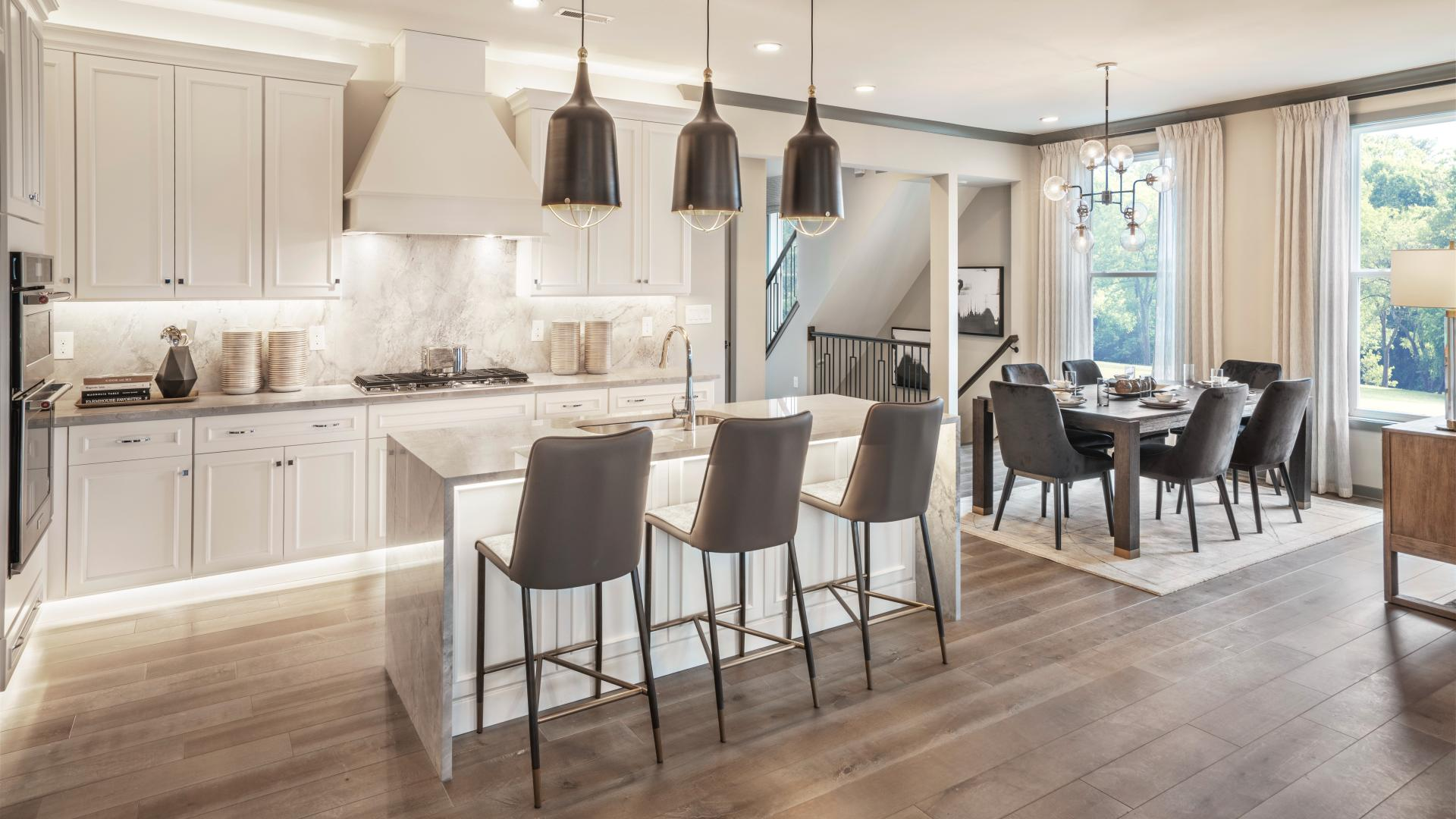 Casual dining area adjacent to kitchen
