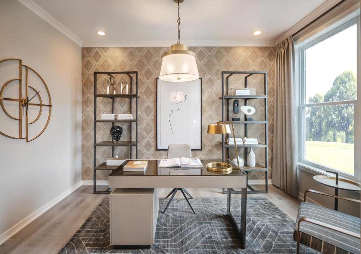First-floor flex space, ideal for a home office