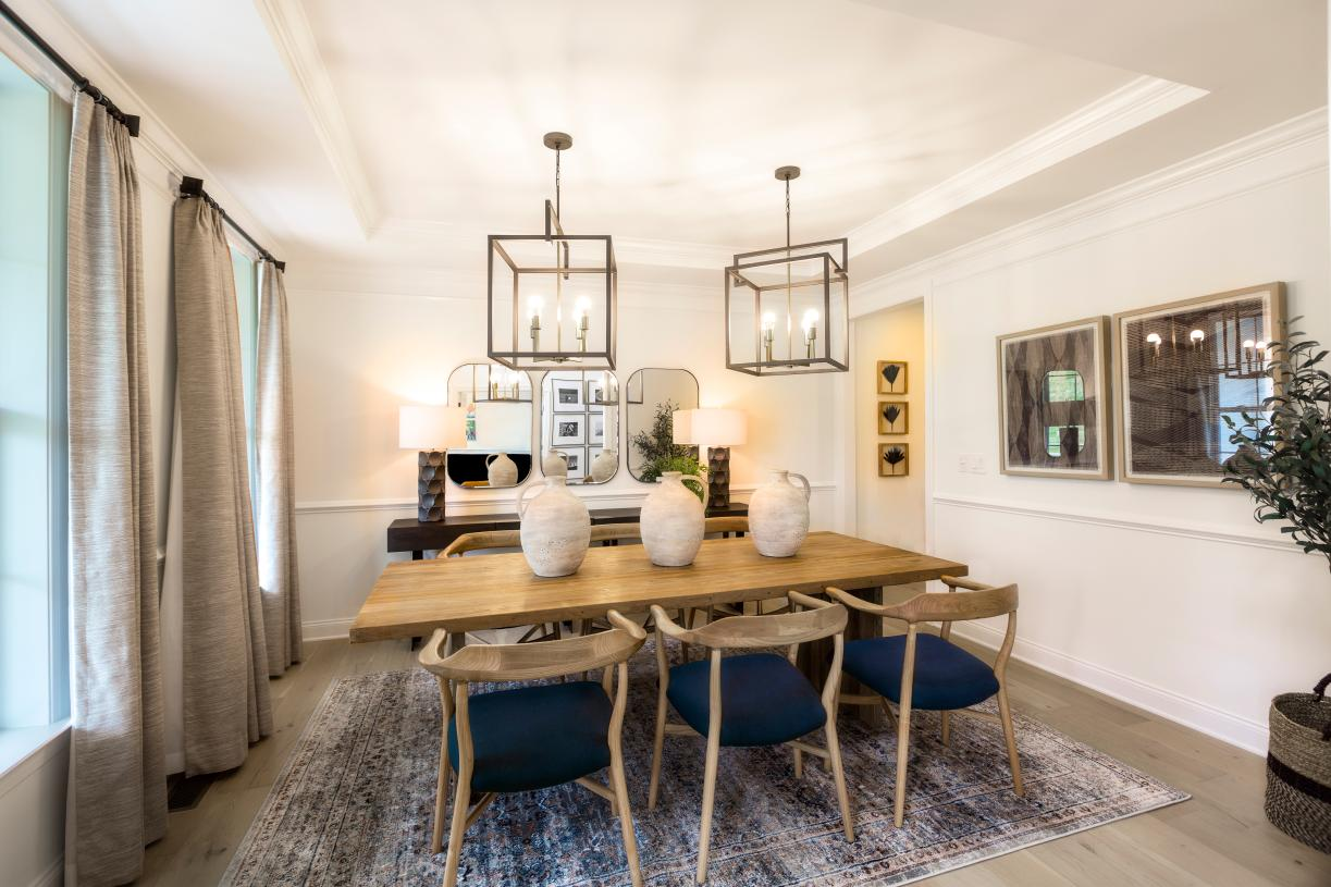 The formal dining room provides a convenient and intimate setting