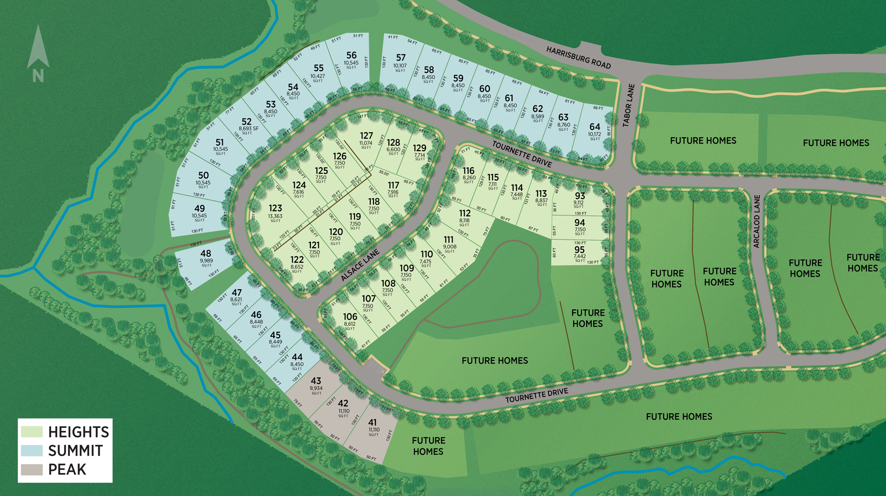 Ridgecrest - The Heights Collection Site Plan