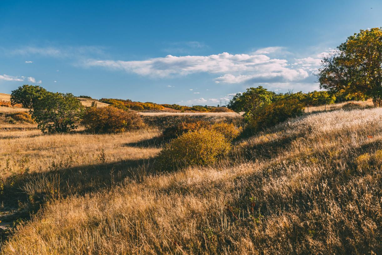 Beautiful varied terrain with sweeping views