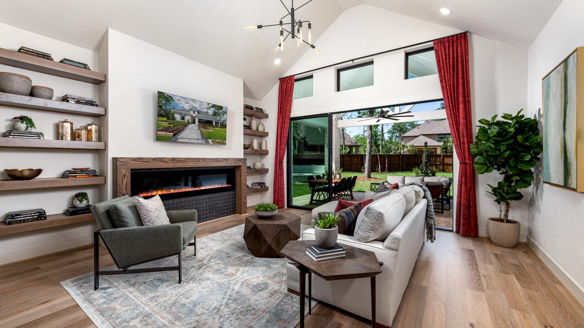 Lavaca's spacious, open concept great room is exceptional for family gatherings