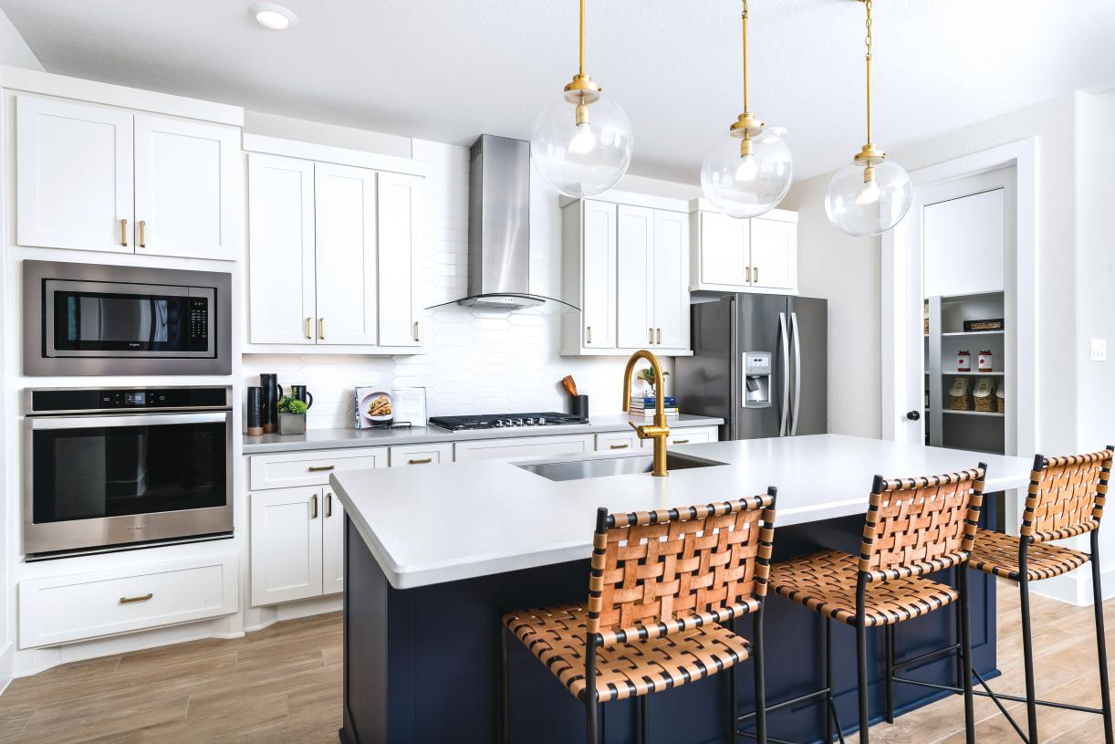 Adam's chef-inspired kitchen with large island