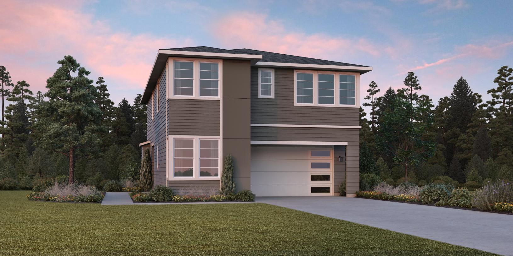 A variety of architectural styles including the modern Orchard will create a lovely streetscape