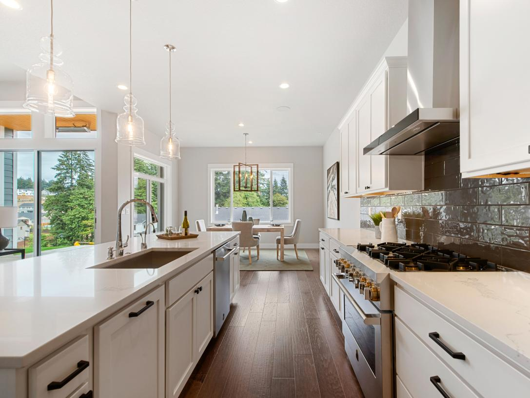 Well-designed kitchens offer plenty of counter and cabinet space