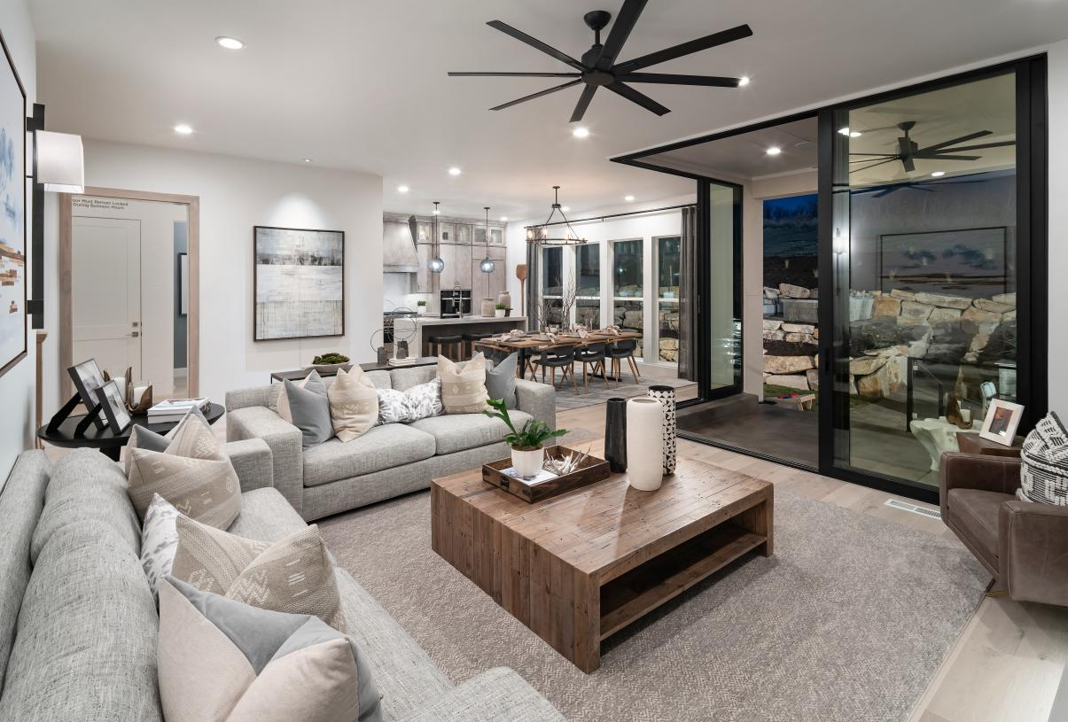 Open-concept great room that brings the outdoors in