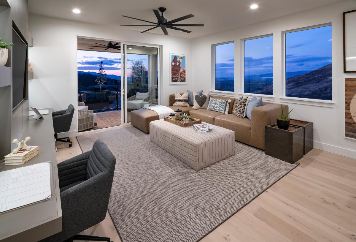 Versatile second-floor loft with optional covered decks for outdoor living