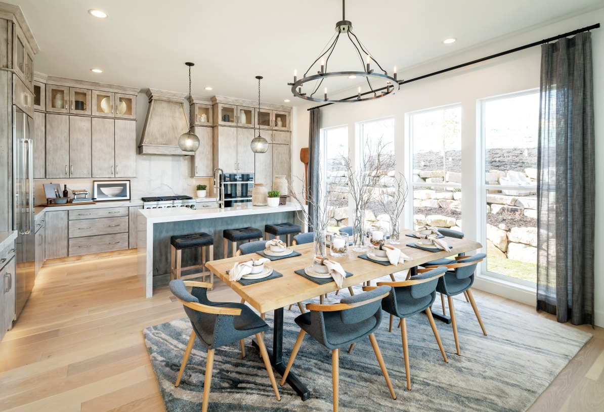 Stunning kitchens with ample countertop and cabinet space and large center island