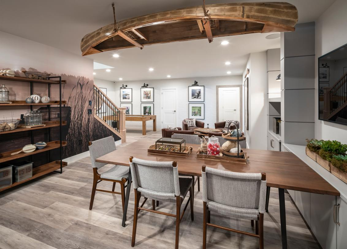Finished basement options for additional living and entertaining
