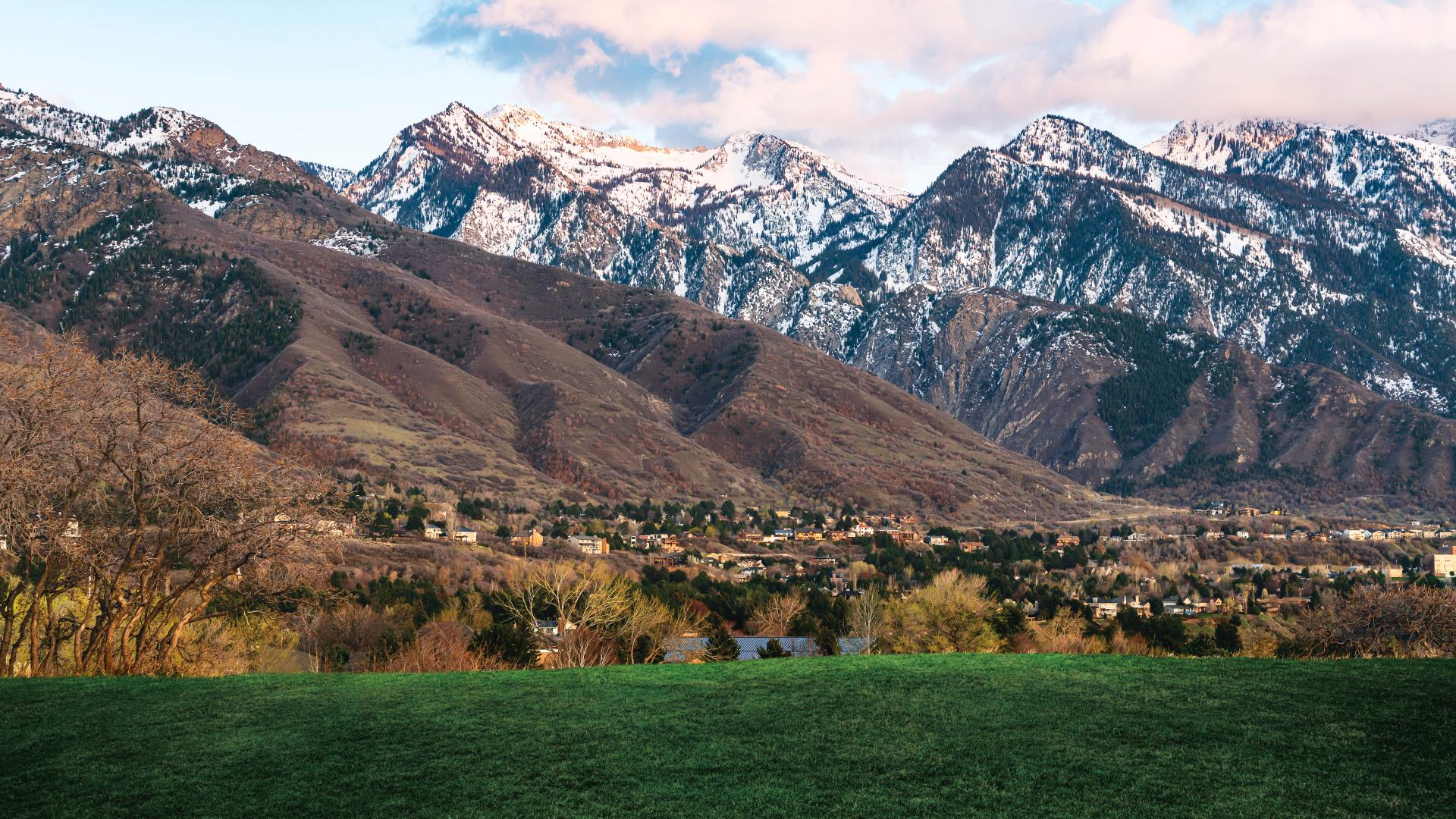 Breathtaking views of the Wasatch Mountain front