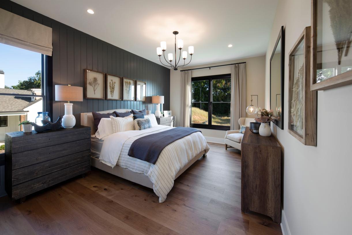 Main level bedroom in the Rosebriar