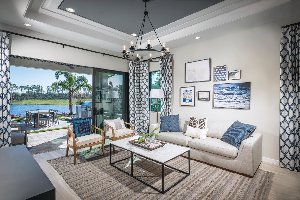 Open floor plans and private lanais