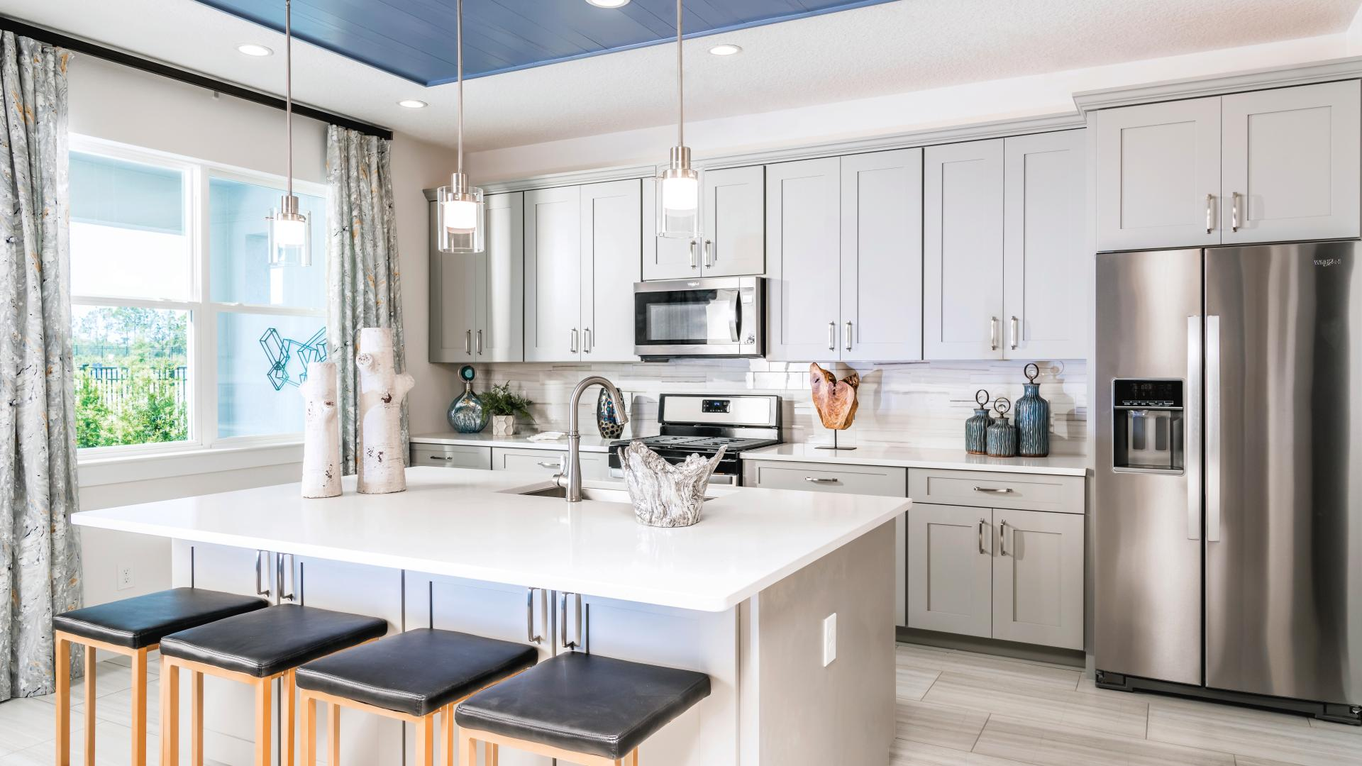 Spacious kitchens with center island