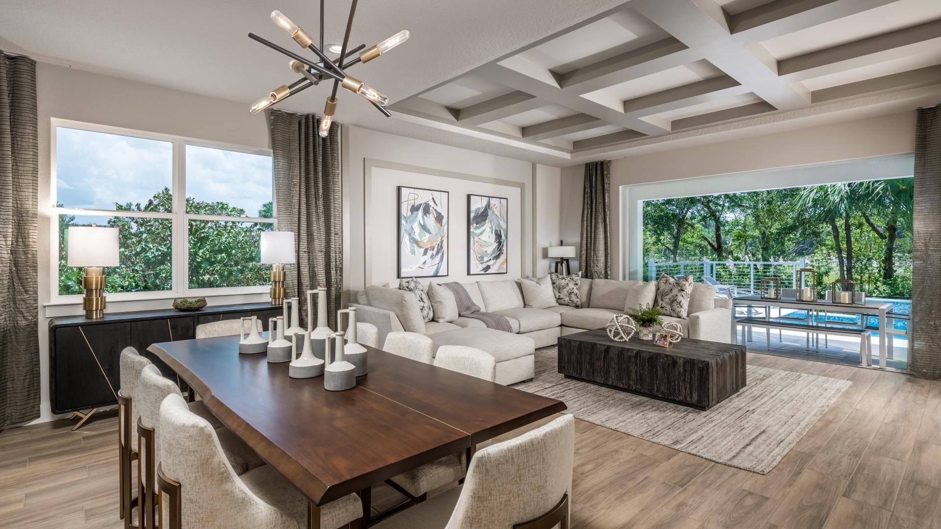 Open floor plans with abundant natural light