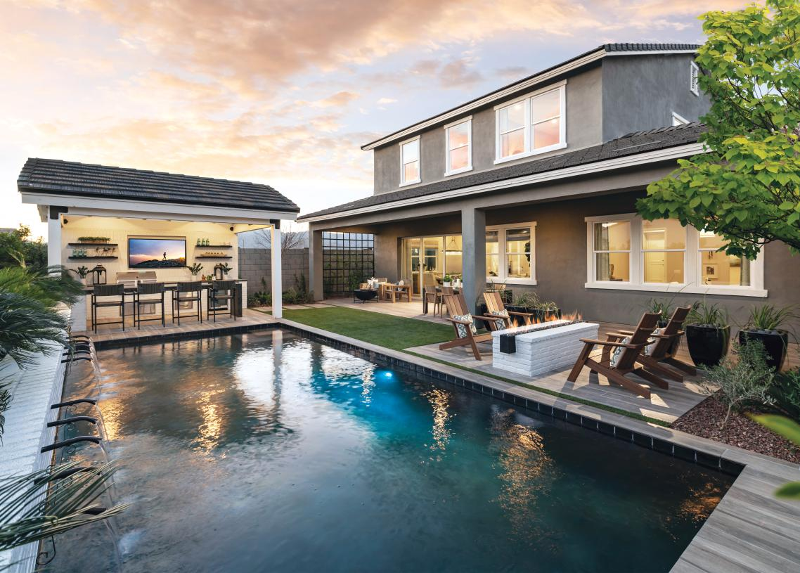 Stunning backyards with spacious covered patios for outdoor living and entertaining