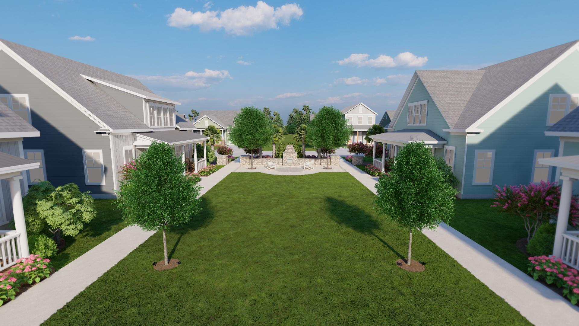 Parkview Collection greenway ideal for outdoor living