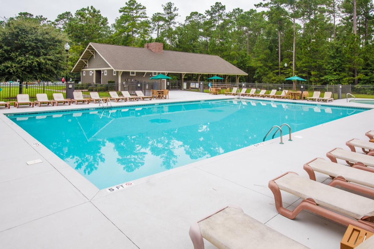 Multiple community pools for summer relaxation
