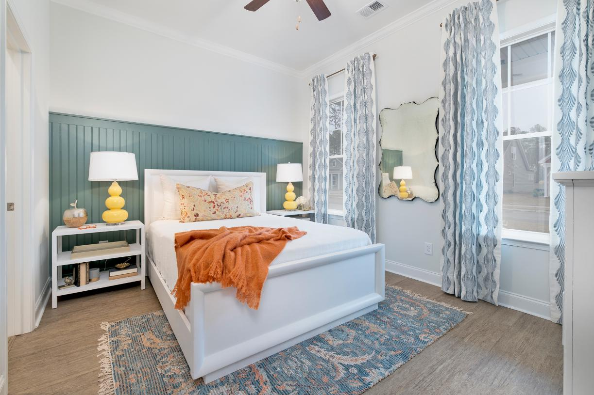 Large primary bedroom suites with walk-in closets