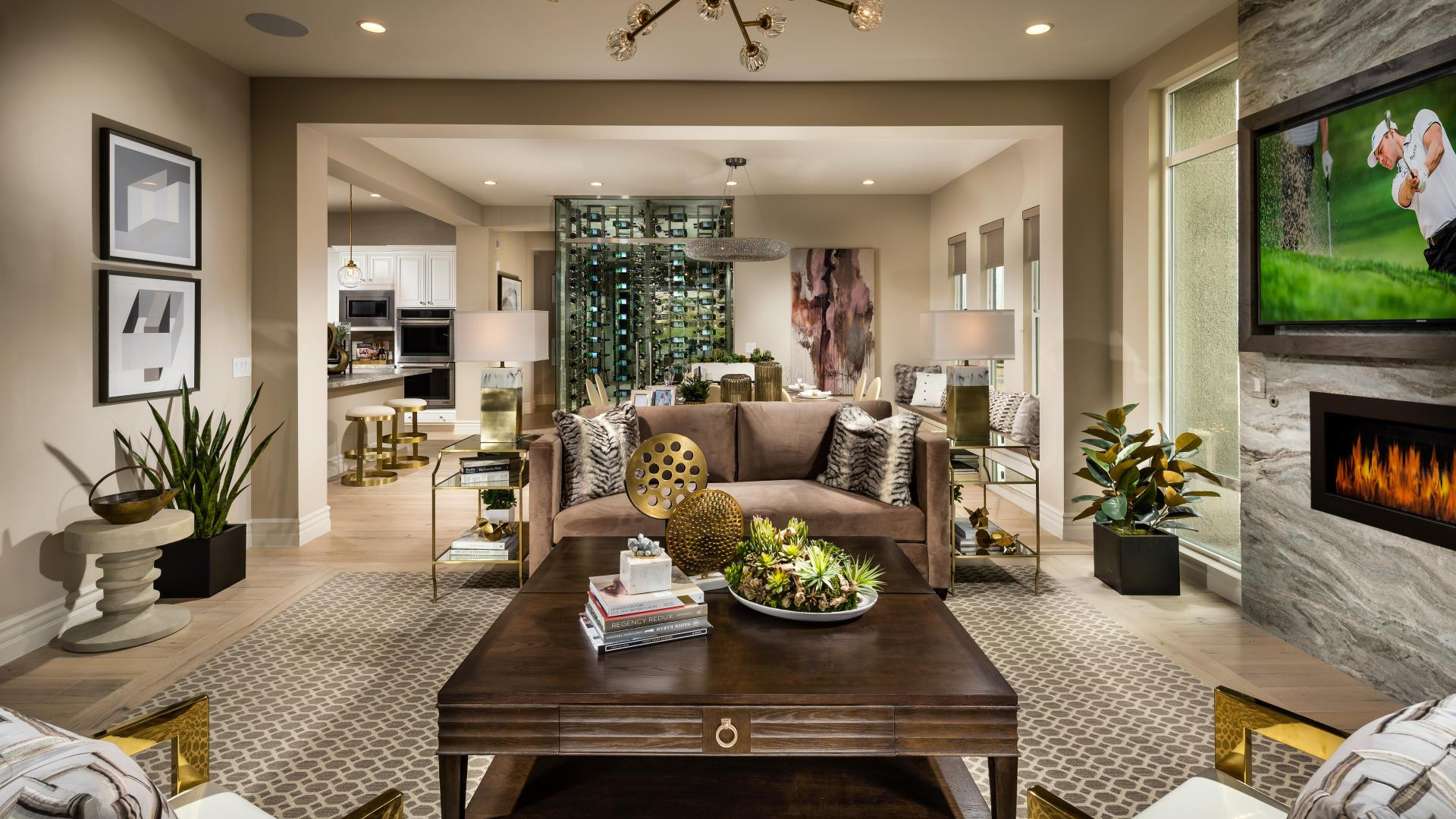 Open-concept great room, kitchen and casual dining—perfect for entertaining