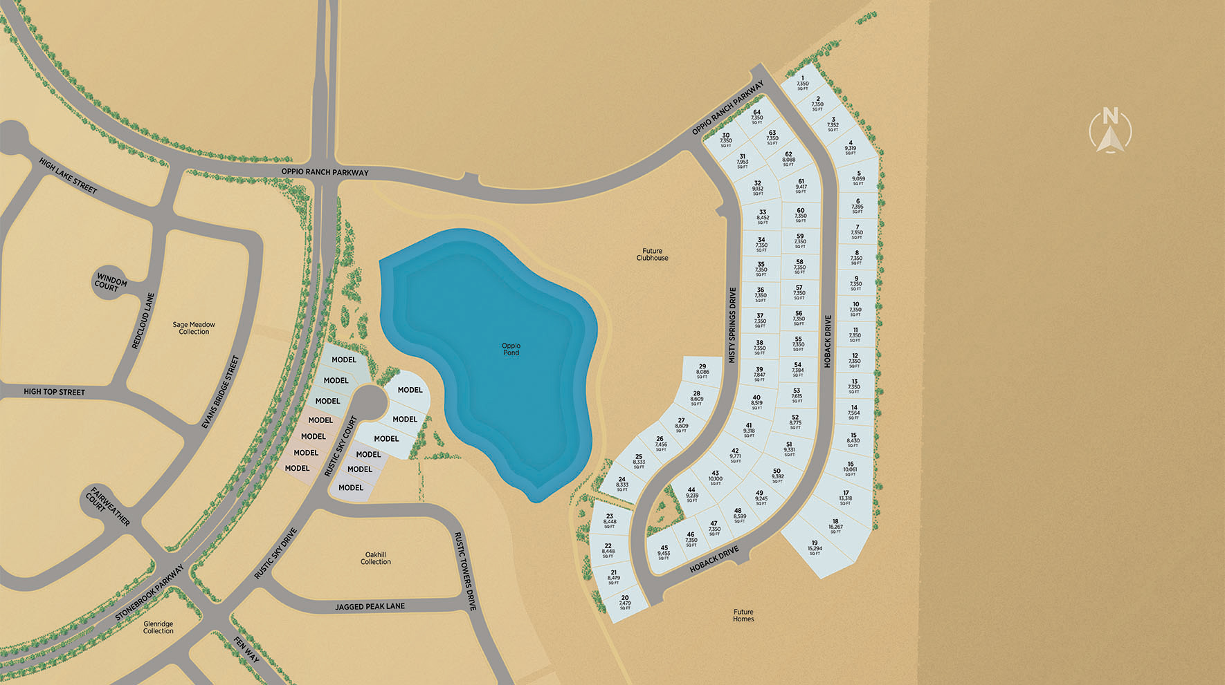 Regency at Stonebrook - Windsong Collection Site Plan Map