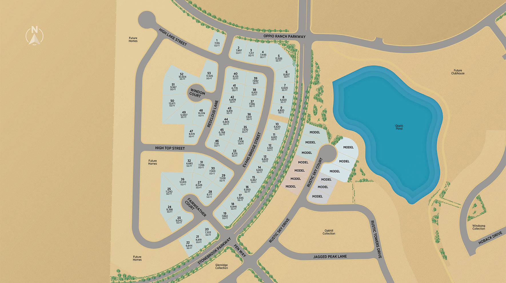 Regency at Stonebrook - Sage Meadow Collection Site Plan Map