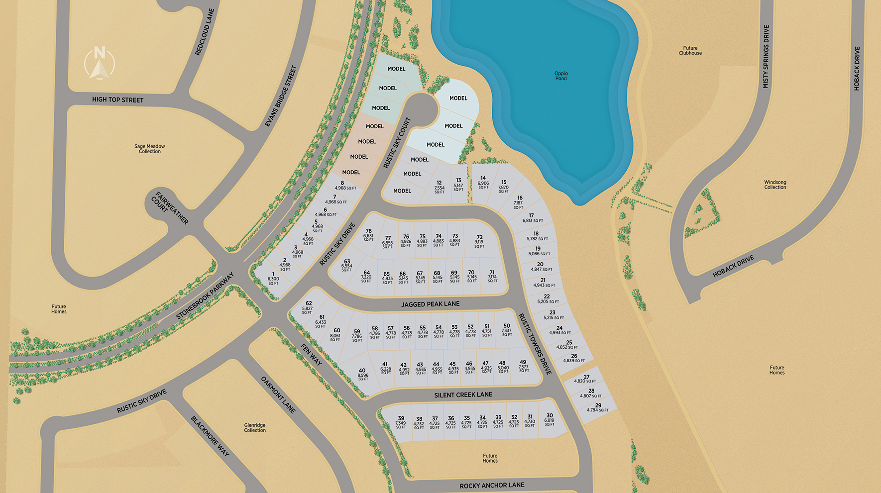 Regency at Stonebrook - Oakhill Collection Site Plan
