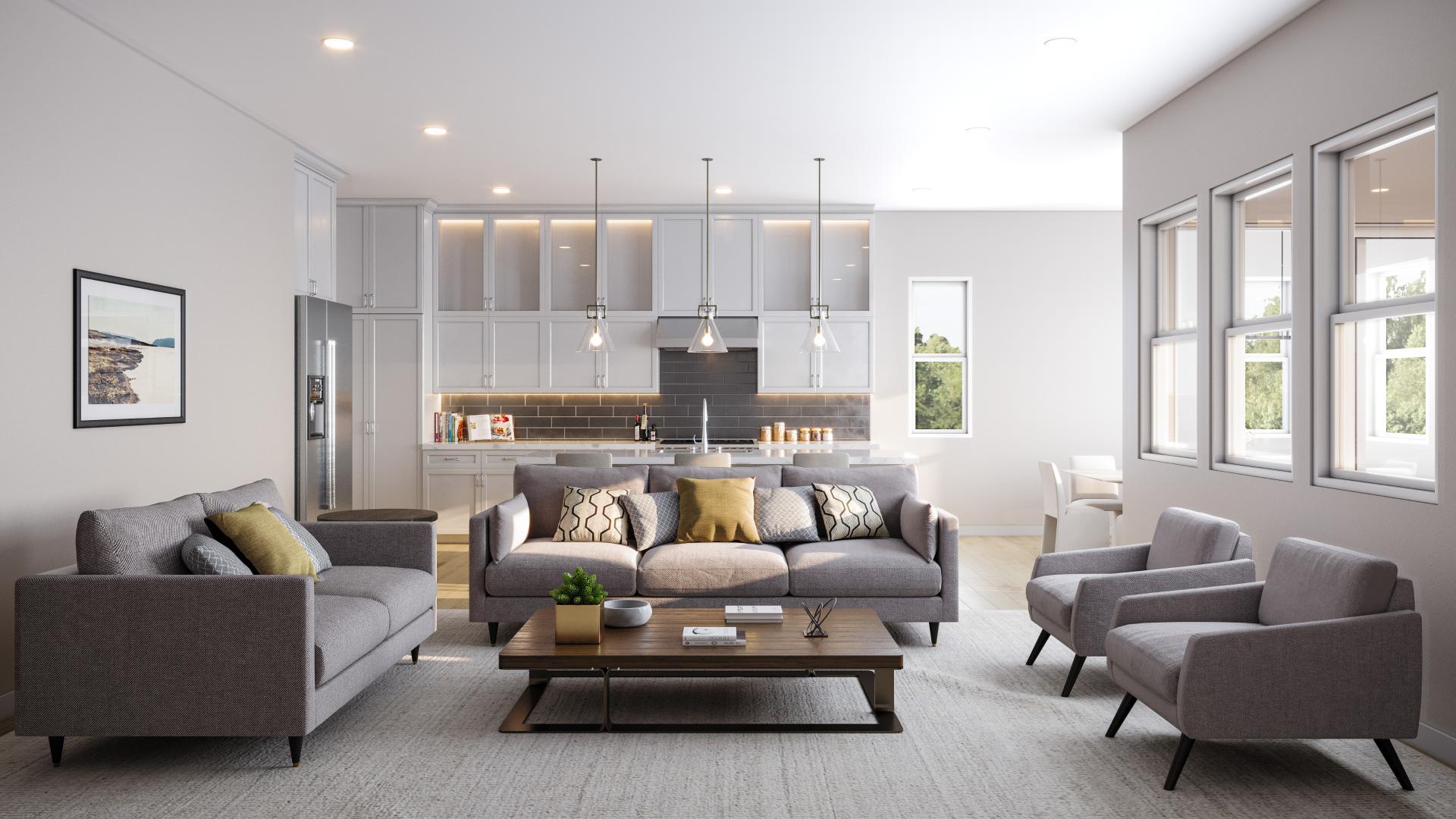 Spacious open-concept floor plans