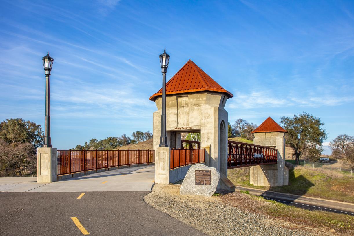 Bike or walk through scenic Johnny Cash Trail