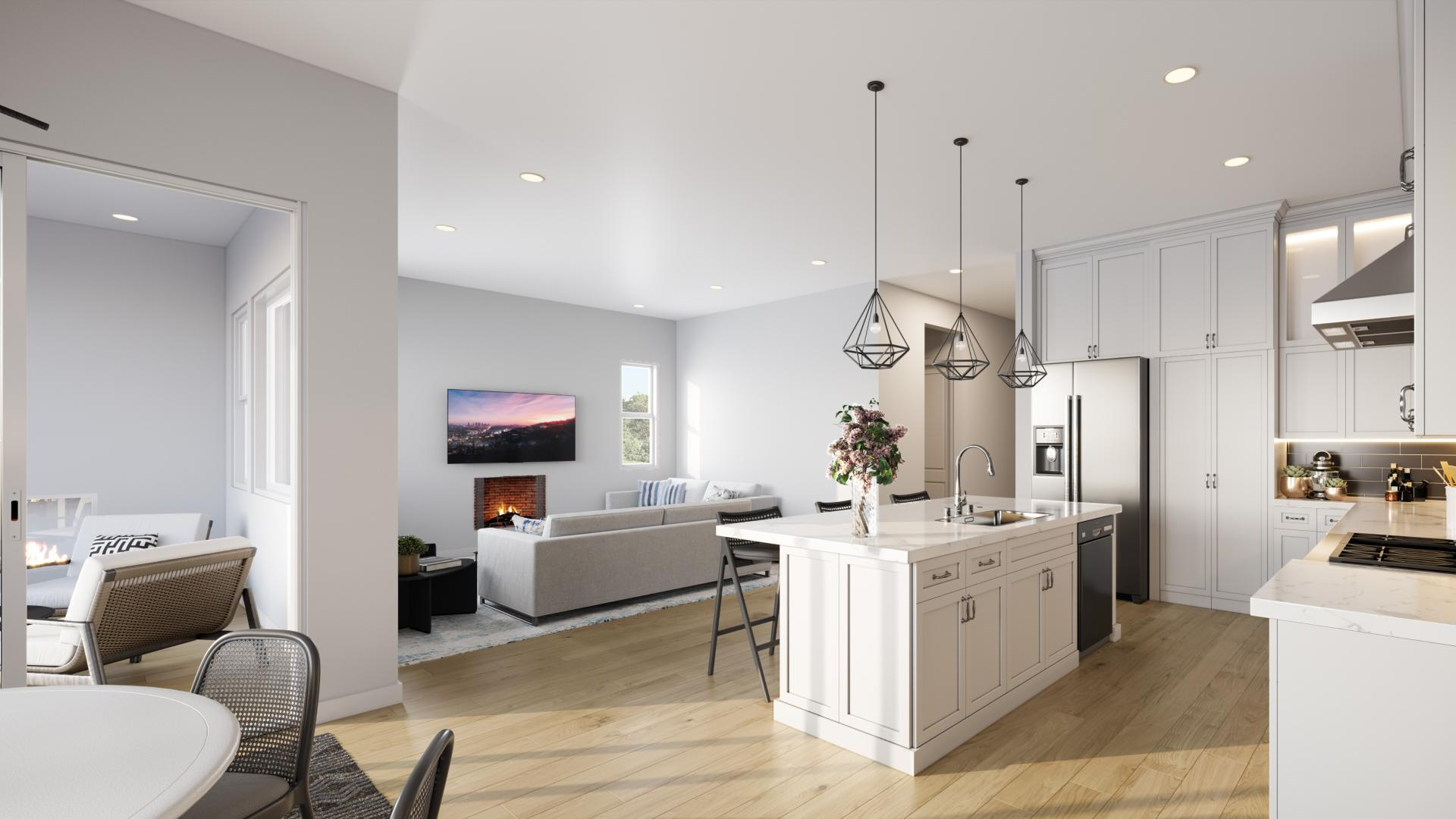 Perfect for entertaining, all homes have an open floor plan
