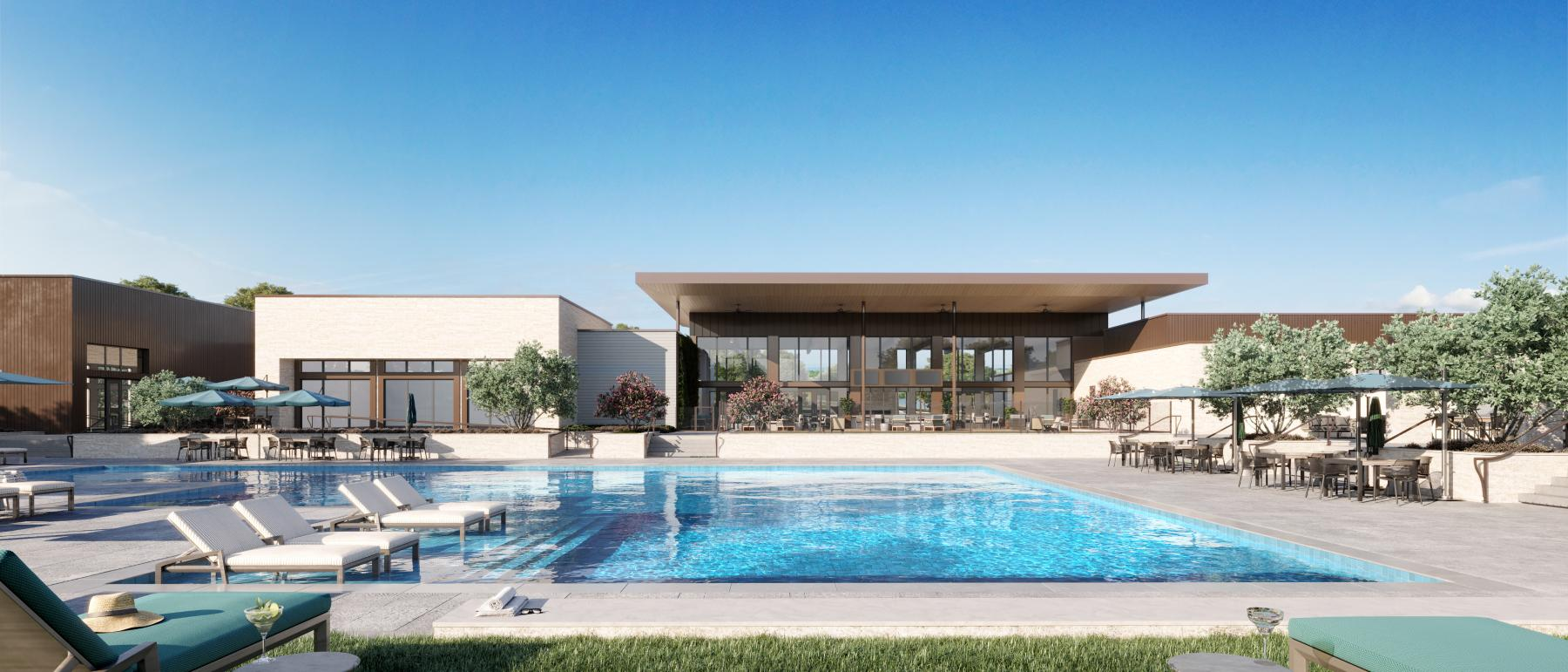 Take a few laps at the clubhouse pool