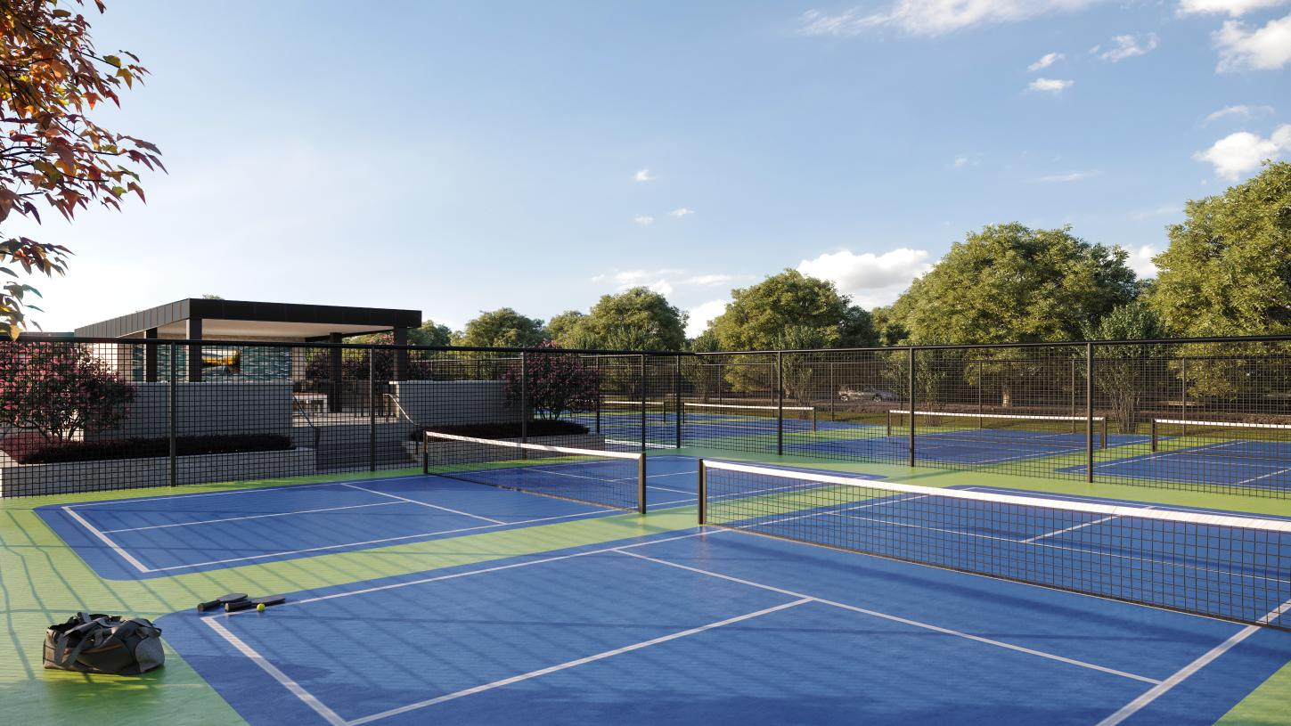 Enjoy a game of pickleball with friends