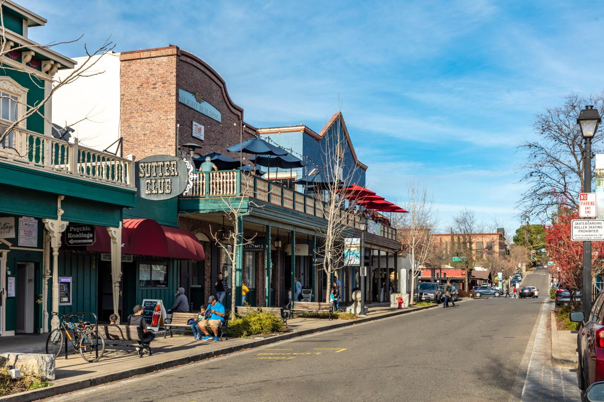 Shop and dine in the Historic Folsom District