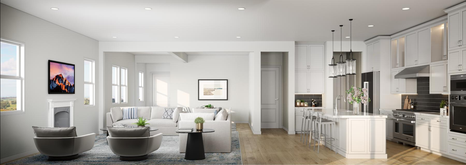 All home designs will feature a bright, open floor plan, ideal for entertaining