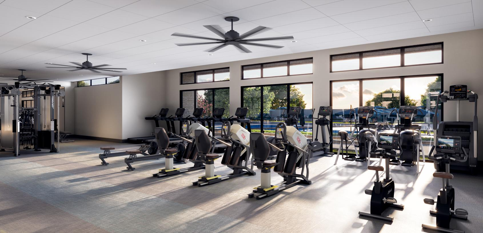 Get a good workout at the clubhouse gym