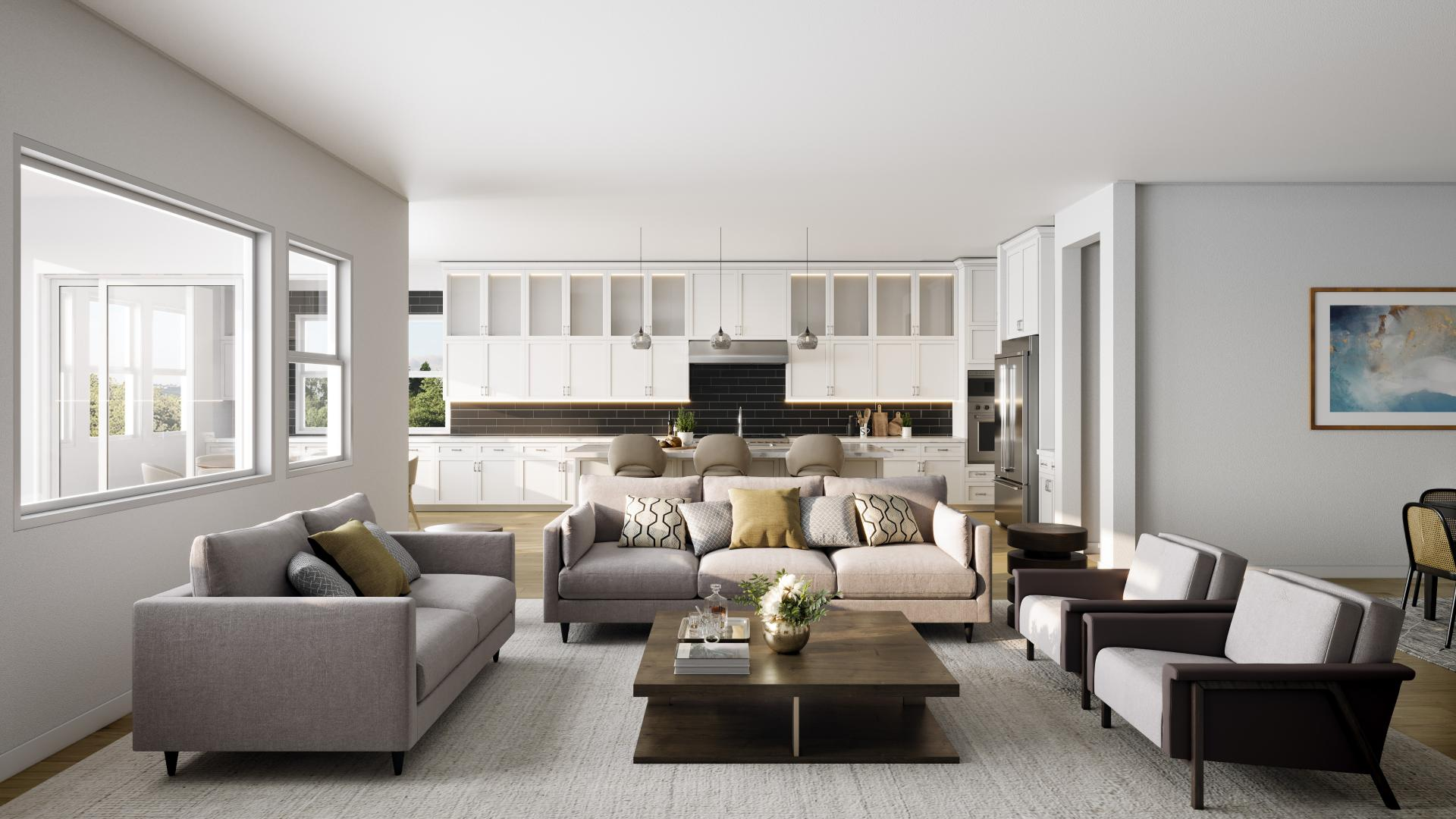 Bright and open floor plans