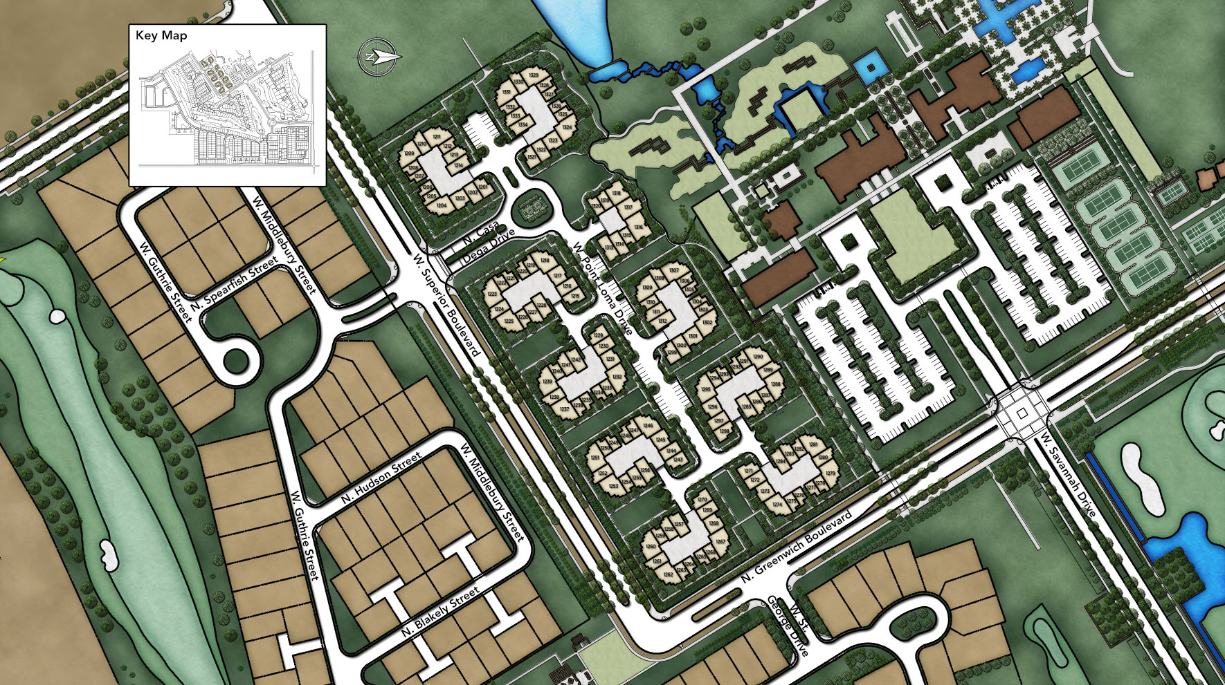 Sterling Grove - Villa Collection Site Plan