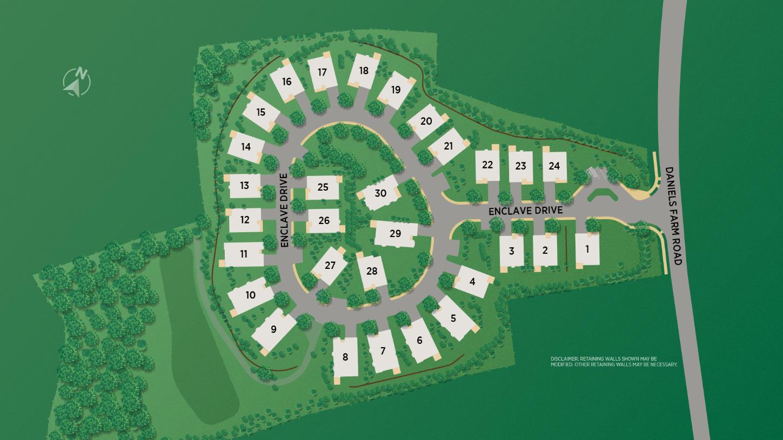 Enclave at Daniels Farm Site Plan